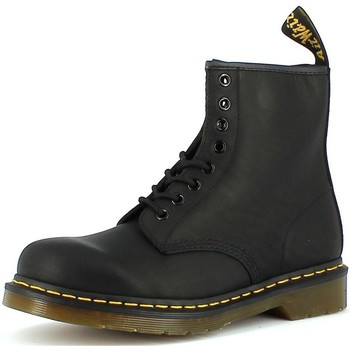 Chaussures Homme Boots Dr Martens NERI GREASY Noir