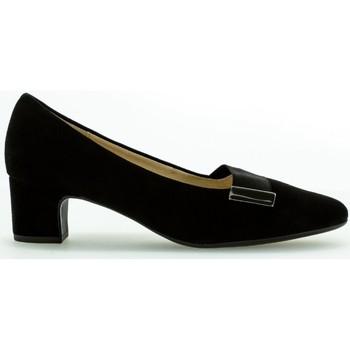 Chaussures Femme Escarpins Gabor Escarpin velours talon  recouvert Noir