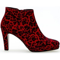 Chaussures Femme Low boots Gabor Bottines modernes Rouge