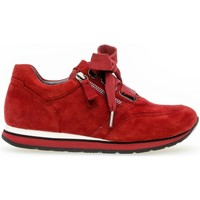 Chaussures Femme Baskets basses Gabor Basket velours talon  plat Rouge