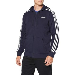 Vêtements Homme Sweats adidas Originals E 3 STRIPES FULLZIP FLEECE GIACCHETTO CAPPUCCIO BLU bleu