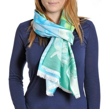 Accessoires textile Femme Echarpes / Etoles / Foulards Qualicoq Echarpe légère Durance - Couleur - Vert - Fabriqué en France Vert