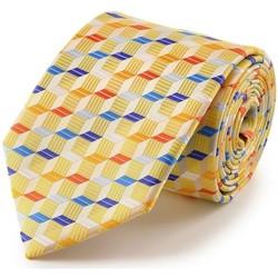 Vêtements Homme Cravates et accessoires Dandytouch Cravate cube 3D Jaune