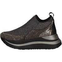 Chaussures Femme Slip ons Café Noir HDC985 GRIS