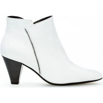 Chaussures Femme Bottines Gabor Bottines cuir talon  aiguille Blanc
