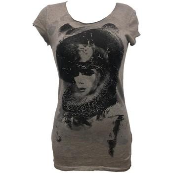 Vêtements Femme T-shirts manches courtes Rich & Royal Rich&Royal Tee shirt Visages Gris 13Q466 Gris