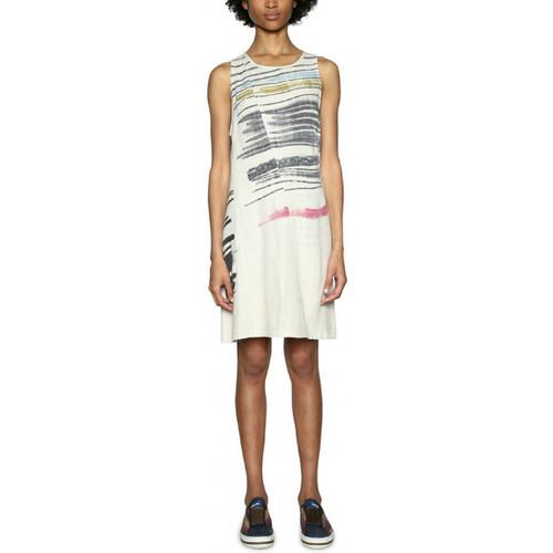 Vêtements Femme Robes courtes Desigual Robe Matias Blanc 18SWVWB1