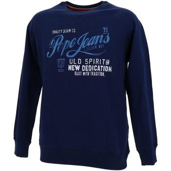 Vêtements Garçon Sweats Pepe jeans Mohsen navy sweat jr Bleu marine / bleu nuit
