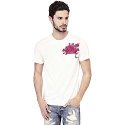Vêtements Homme T-shirts manches courtes Guess T-Shirt Homme Nicolas Blanc Blanc