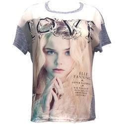 Vêtements Femme T-shirts manches courtes By La Vitrine Top Love B002 Bleu Bleu
