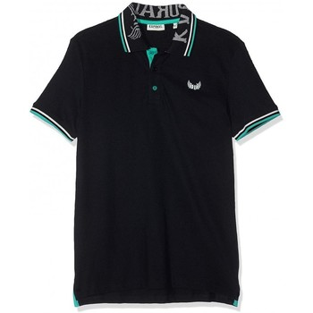Vêtements Homme Polos manches courtes Kaporal Polo Homme Mimo Noir col vert 38