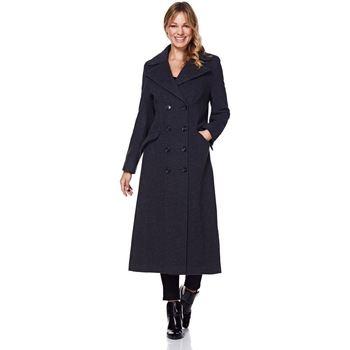Vêtements Femme Manteaux Anastasia Manteau de cachemire simple d'hiver Grey