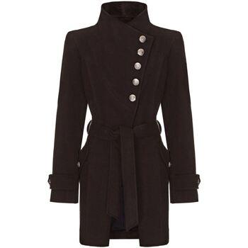 Vêtements Femme Trenchs Anastasia Manteau asymétrique Multi-Boutons D'Hiver Black