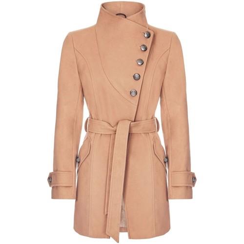 Vêtements Femme Trenchs Anastasia Manteau asymétrique Multi-Boutons D'Hiver Beige