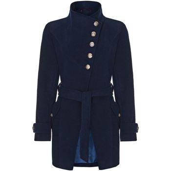 Vêtements Femme Trenchs Anastasia Manteau asymétrique Multi-Boutons D'Hiver Blue