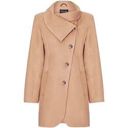 Vêtements Femme Manteaux De La Creme Manteau D'Hiver à Fixation Asymétrique Pour Femme Beige