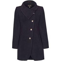 Vêtements Femme Manteaux De La Creme Manteau D'Hiver à Fixation Asymétrique Pour Femme Grey