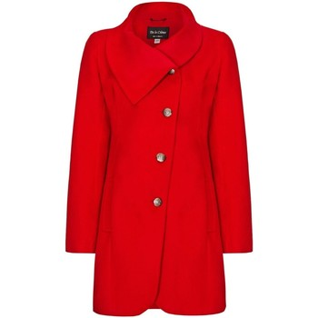 Vêtements Femme Manteaux De La Creme Manteau D'Hiver à Fixation Asymétrique Pour Femme Red