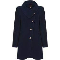 Vêtements Femme Manteaux De La Creme Manteau D'Hiver à Fixation Asymétrique Pour Femme Blue