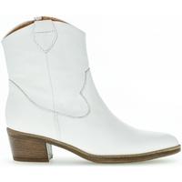 Chaussures Femme Bottines Gabor Bottines cuir talon  façon block Blanc