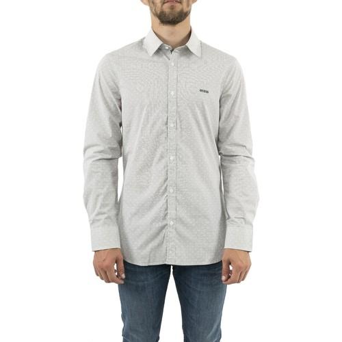 Vêtements Homme Chemises manches longues Guess m93h20 sunset gris