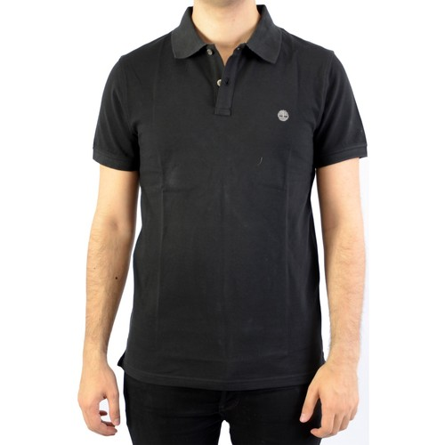 Vêtements Homme Polos manches courtes Timberland Polo SS MR Jacquard Black