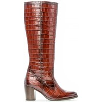 Chaussures Femme Bottes Gabor Bottes cuir talon  façon block Marron