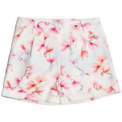 Vêtements Fille Shorts / Bermudas Guess Short Fille Imprimé Fleurs Blanc/Multicolore 1