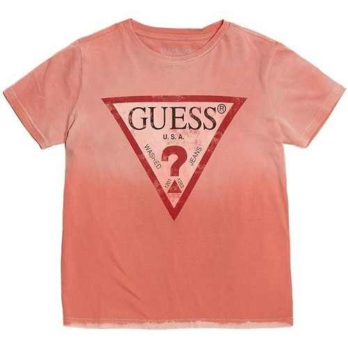 Vêtements Enfant T-shirts & Polos Guess T-Shirt Logo Triangle Rouge L81I26