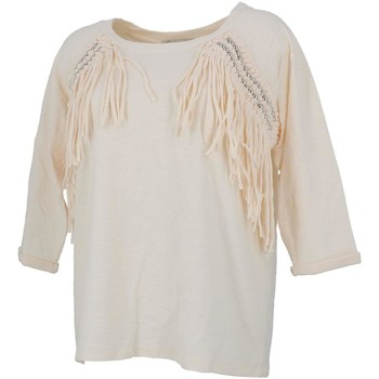 Vêtements Femme Sweats Culture Sud Candou sweat franges Blanc