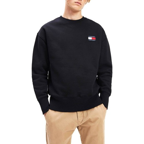 Vêtements Homme Sweats Tommy Jeans TJM TOMMY BADGE CREW Noir