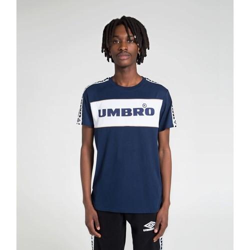 Vêtements T-shirts manches courtes Umbro T-shirt Coton Bande Tissee Street MARINE
