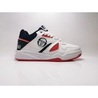 Chaussures Baskets basses Sergio Tacchini TOP PLAY WHITE NAVY RED