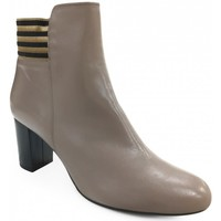 Chaussures Femme Bottines Brenda Zaro Boots talon Taupe Marron