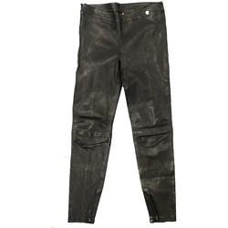 Vêtements Femme Pantalons fluides / Sarouels Rich & Royal Pantalon Noir Cuir 13Q997 Noir