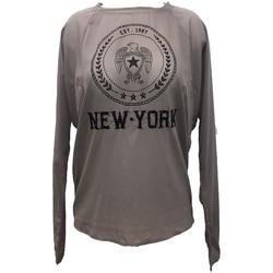 Vêtements Femme Tops / Blouses Charlie Joe Top New york Est 1967  Taupe Taupe