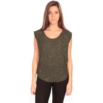 Vêtements Femme Tops / Blouses Charlie Joe Top Pearl Vert Vert