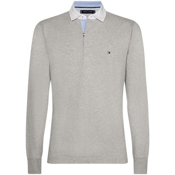 Vêtements Homme Polos manches longues Tommy Hilfiger Polo manches longues rugby ICONIC RUGBY Gris