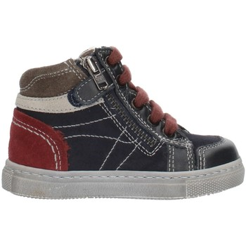 Chaussures Garçon Baskets montantes Nero Giardini A724352M Bleu gris et bordeaux