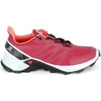 Chaussures Randonnée Salomon Supercross Cerise Rouge