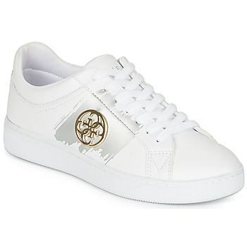 Chaussures Femme Baskets basses Guess FL5REI-ELE12-WHITEGO Blanc / Or