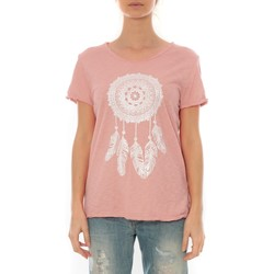 Vêtements Femme T-shirts manches courtes By La Vitrine Tee Shirt Anthracite Cake V Rose Pale Rose