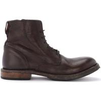 Chaussures Homme Boots Moma Botte  Cusna en cuir brun foncé avec fermeture éclair Noir