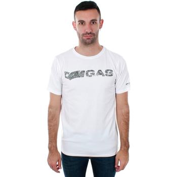 Vêtements Homme T-shirts manches courtes Gas GATS01 JUNGLE T-SHIRT AB30 WHITE JUNGLE Blanco