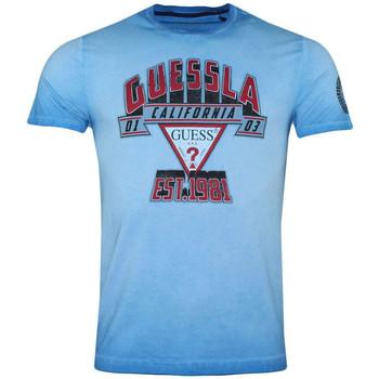 Vêtements Homme T-shirts manches courtes Guess T-Shirt Homme SLAM DUNK M92I40 Bleu Bleu