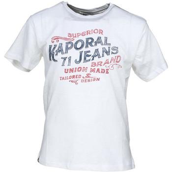 T-shirt enfant Kaporal T-Shirt Garçon Run Blanc Cassé