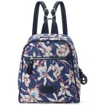 Sacs Femme Sacs à dos Fuchsia Sac à dos  toile bleu motif fleur Hawaï bleu