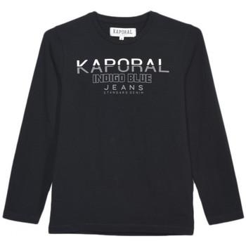 T-shirt enfant Kaporal T-Shirt Manches Longues Garçon Ronio Noir