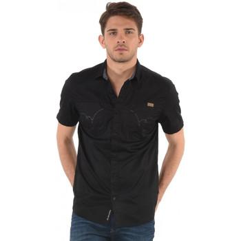 Vêtements Homme Chemises manches courtes Kaporal Chemise Homme Manches Courtes Piv Noir 38