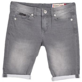 Vêtements Garçon Shorts / Bermudas Kaporal Bermuda en jeans Garçon Eole Gris